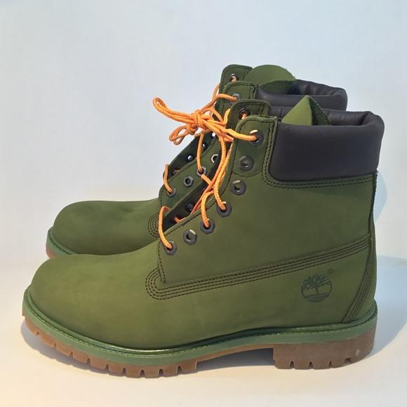 Timberland Mens Dark Olive Green Premium 6 Inch Waterproof